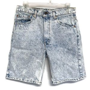 Levis 505 Acid Wash Jean Shorts Mom Jeans